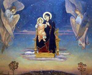 Богородица и ангелы