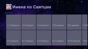 Словарь русских имён