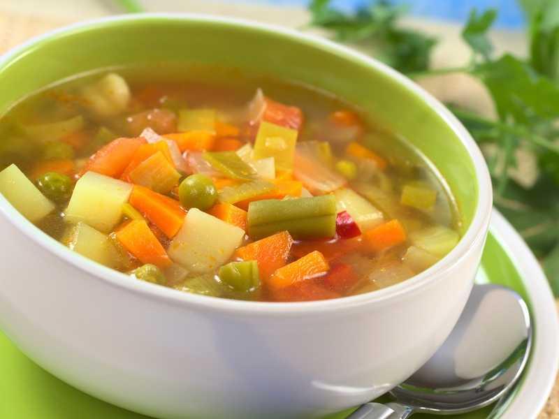 Суп постный на обед