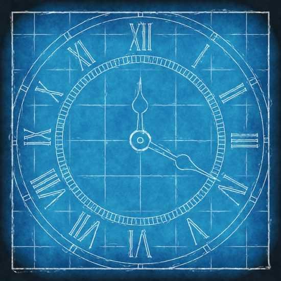 Нарисованные часы