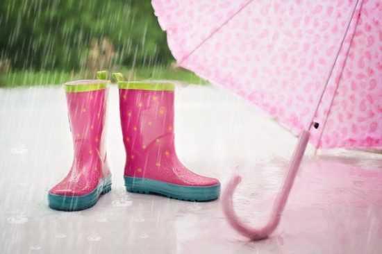 Зонт и сапоги