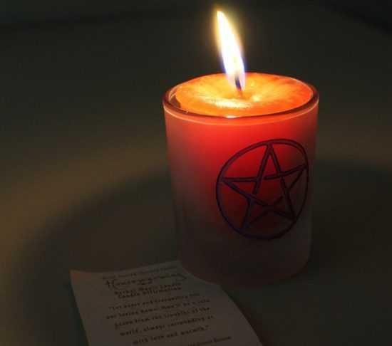 Свеча с пентаграммой