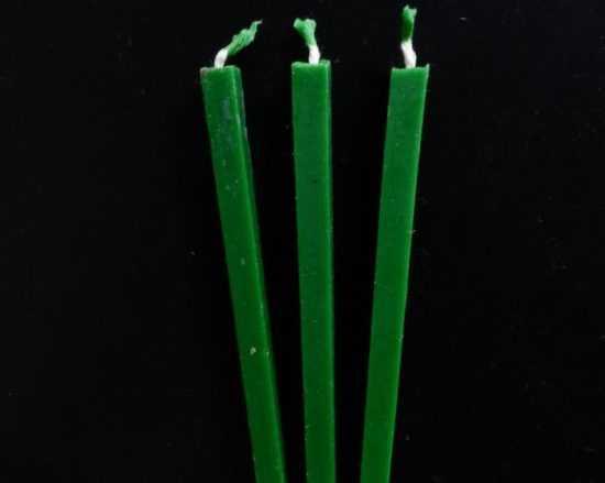 Свечи зеленые