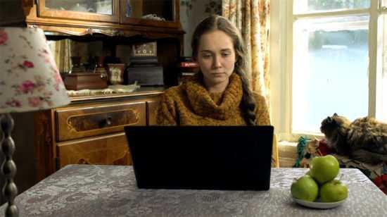 Внучка Аня ведет свой блог в интернете