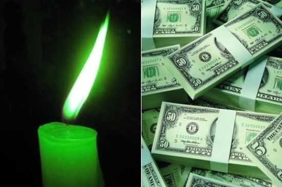 Ритуал с зеленой свечой