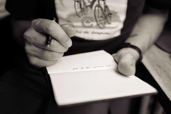Бумага и ручка