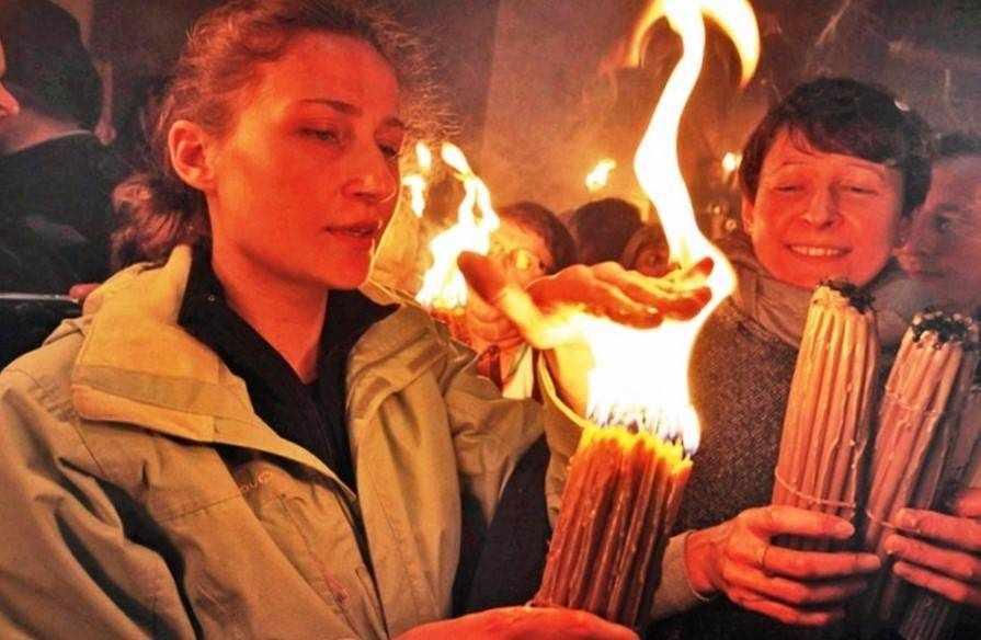 Огонь Благодатный не жжёт рук