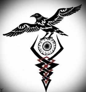 Тату глаз Одина