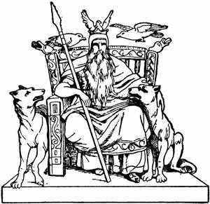 Тату трон Одина