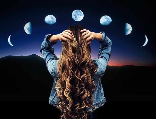 Заговор на рост волос на новую луну